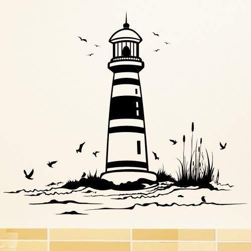 Playa con Faro - Wandtattoo / 49 Colores / 4 Tamaños/Producto ...