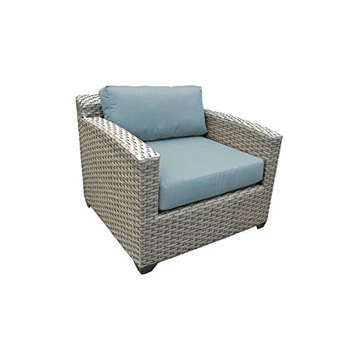 JumpingLight Florence Outdoor Wicker Patio Club Chair in Spa Durable and Ideal for Patio and Backyard