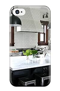 Chris Bullock Design High Quality White Industrial-style Kitchen With Contrasting Dark Wood Cabinets Cover Case With Excellent Style For Iphone 4/4s