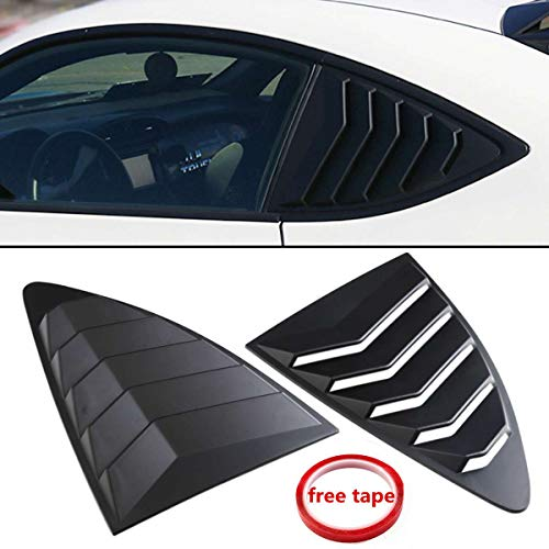 (2Pcs Car Black Plastic Rear Louver Quarter Window Panel For Scion FRS for subaru BRZ for Toyota 86 GT86 2013-2018)