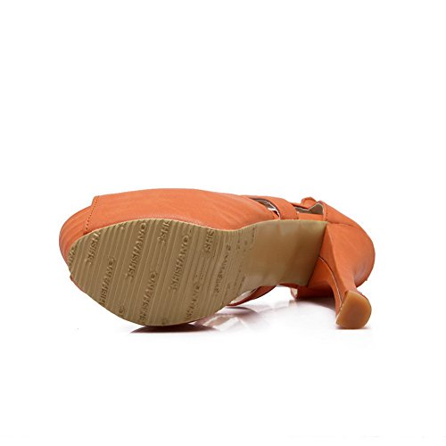 BalaMasa Womens Sandals Platform Huarache Fabric Urethane Sandals ASL04419 Orange Sd4eoxTJ