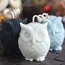 Candle Molds 3D Owl Animal Silicone Soap Mold Resi