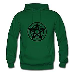 Pentagram_1_f1 Designed Customized : X-large Womensweatshirts Green- Made In Good Quality.