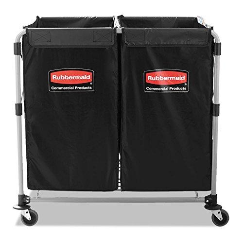 - Rubbermaid 1881781 Collapsible X-Cart Steel 2 to 4 Bushel Cart 24 1/10w x 35 7/10d Black/Silver