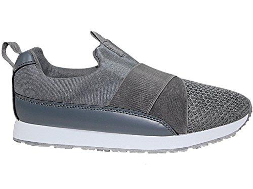 Foster Footwear - Botines chica Unisex, para niños mujer para chico Charcoal/Mesh