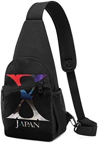 ボディバッグ ショルダーバッグ X Japan バンド ミュージック クロスボディバッグ 斜めがけバッグ 左右両掛け ワンショルダーバッグ ボディーバッグ メンズ 軽量 ポシェット 縦型 多機能バッグ 小物入れ 大容量 通勤 通学 レジャー