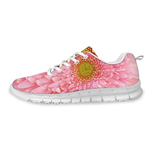 Bigcardesigns Damesmode Mooie Print Sportschoenen Sneakers Lace Up Bloemen 1