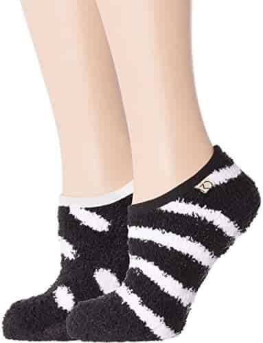 b2111a82a5b3 Noble Mount Women s Fuzzy Mary Jane Style Slipper Socks - 2 Pack
