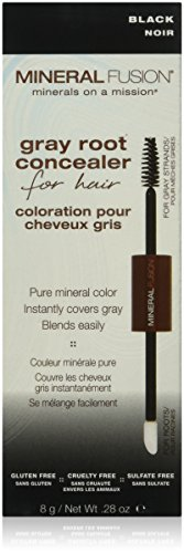 Mineral Fusion Gray Root Concealer for Hair, Black