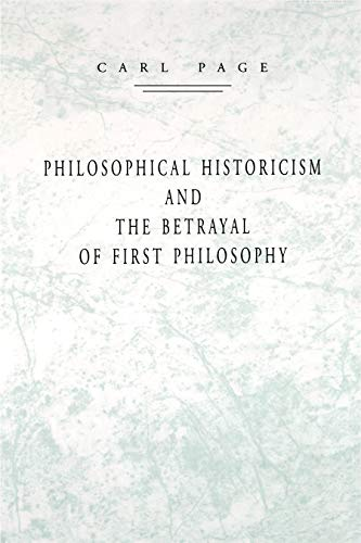 Philosophical Historicism and the Betrayal of First Philosophy (Aristotle Cabinet)