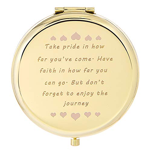 Novelty Gift For Women Wife Girlfriend Daughter, Aunt, Granddaughter Travel Pocket Makeup Mirror With Amazing Sayings That Make Funny Gifts Graduation Gift For Her