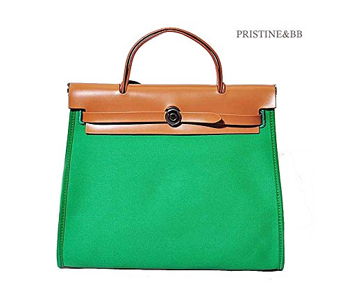 Leather Bb Canvas New Herbag 2016, 8 Color (Green, 31cm)