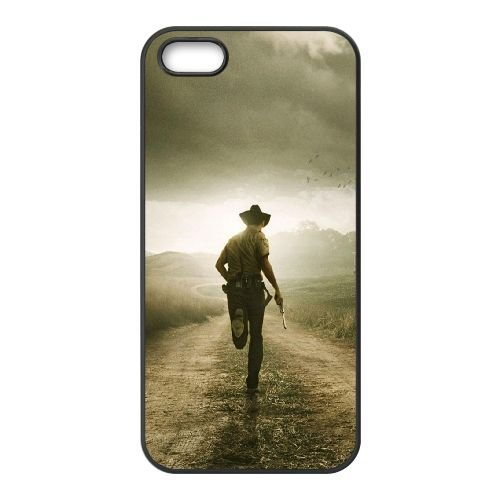 901 The Walking Dead L coque iPhone 5 5S cellulaire cas coque de téléphone cas téléphone cellulaire noir couvercle EOKXLLNCD21212