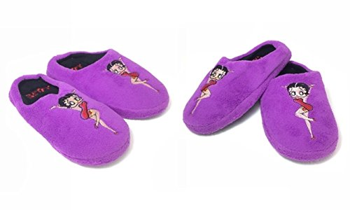 Cozy Non Skid Plush Great for Ultra Purple Slippers Soft Boop Women's Betty Gifts Scuffs Pinup qTf0wxC
