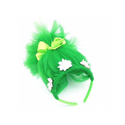 FSBBUT (TM) Baby Girls Poppy Costumes Wig Hairband for Halloween Party (Green) (Common Halloween Costumes)