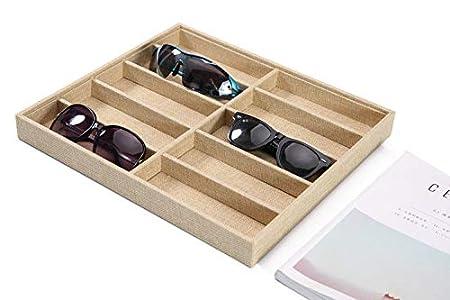Dtcrzj Glasses Display Props, Sunglasses Display Stand, Sunglasses Display Box, Direct Display Box, Linen Display Box