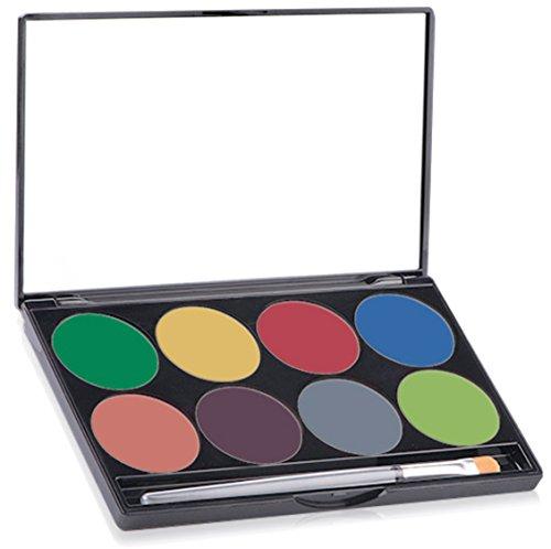 Mehron Makeup Paradise AQ Face & Body Paint 8 Color Palette (Tropical)