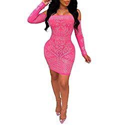 Pink 9 Dress With Diamond Process