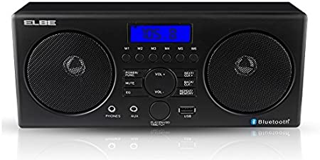 Elbe Radio Despertador con Bluetooth, color negro: Amazon.es ...