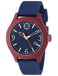 ESQ Movado Unisex 07301453 One Silicone-Wrapped Stainless Steel Watch with Blue Band