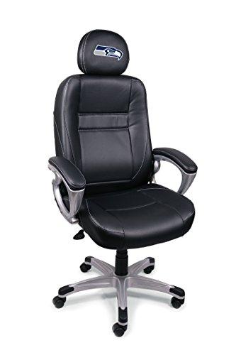 (NFL Seattle Seahawks Leather Head Coach Office Chair)