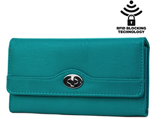 mundi-file-master-womens-rfid-blocking-wallet-clutch-organizer-with-change-pocket-seaglass