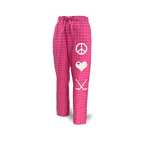 ChalkTalkSPORTS Hockey Lounge Pants Peace Love Hockey