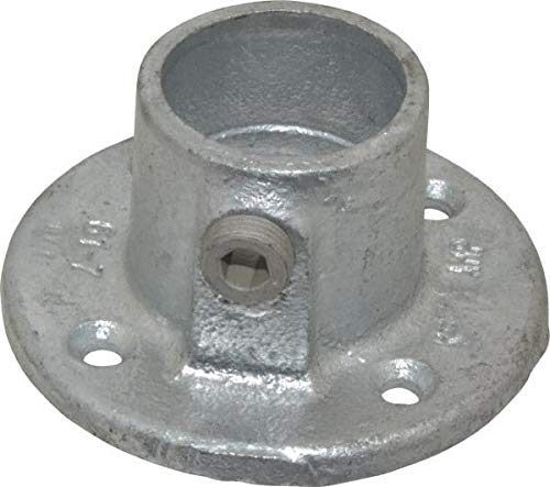 Kee - 1-1/4 Inch Pipe, Medium Flange, Malleable Iron Pipe Rail Fitting (6 Pack)