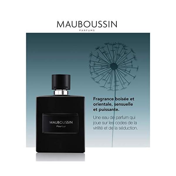 Mauboussin – Eau de Parfum Homme – Pour Lui In Black – Senteur Boisée & Orientale – 100ml
