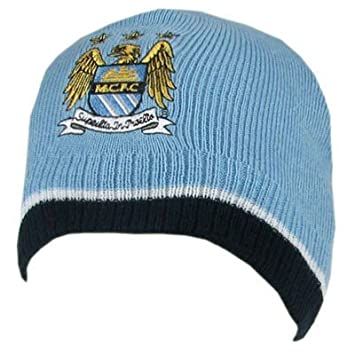 Manchester City Man City Beanie Knitted Winter Beanie Hat  Amazon.co.uk   Sports   Outdoors b73d2bedb