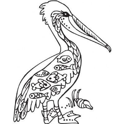 Price comparison product image Sarasota Stamps SSL-3556 Mounted Rubber Stamp Deco Pelican
