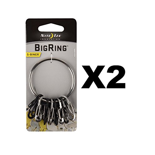 Nite Ize S-Biner 2'' Dia. Stainless Steel, Steel Black Carded by Nite Ize