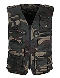 LUSI MADAM Men's Multi-Pockets Travel Hunting Fishing Vest