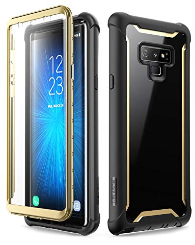 Samsung Galaxy Note 9 Case, i-Blason [Ares Series] Full-Body Rugged Clear Bumper Case with Built-in Screen Protector for Samsung Galaxy Note 9 2018 Release (Gold)