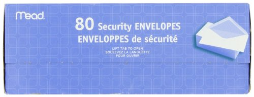 043100752127 - Mead #6 3/4 Security Envelopes, 80 Count (75212) carousel main 6