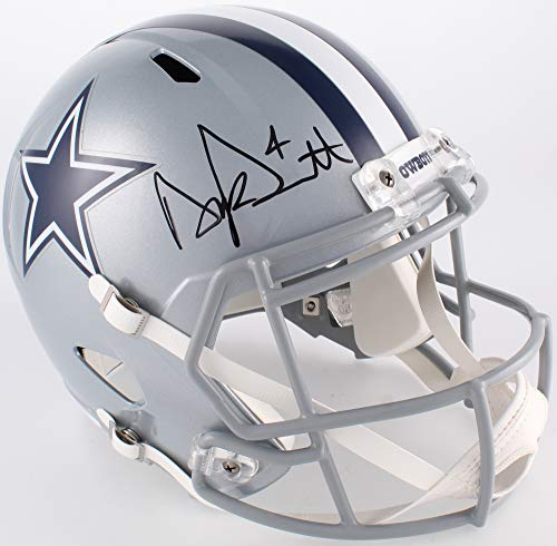 Dak Prescott Dallas Cowboys Signed Autograph Full Size Speed Helmet DAK Hologram & JSA Witnessed Certified ()