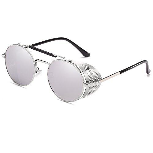 Punk Classic Sun Vintage Wind Glasses Unique Sunglasses Retro Steam Fashion Silver Design qfYxdnTzYw
