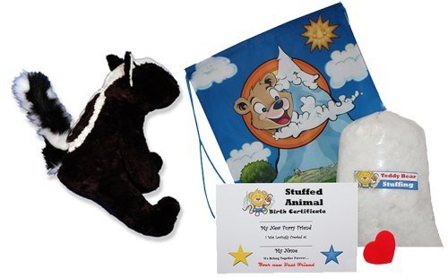 en stock Make Your Own Own Own Stuffed Animal Skunk Kit - No Sew - With Cute Backpack  by Stuffem's Juguete Shop  genuina alta calidad