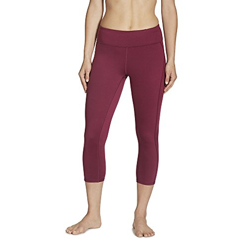 Gaiam Women's Luxe Yoga Capri Solid, Bright Wine, Medium