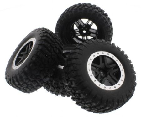 Traxxas 1/10 Ford Raptor/Slash 2WD * BF GOODRICH TIRES * 12mm Black /Gray Wheels