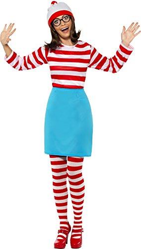 Wally Wenda Costume (Women's Where's Wally Wenda)
