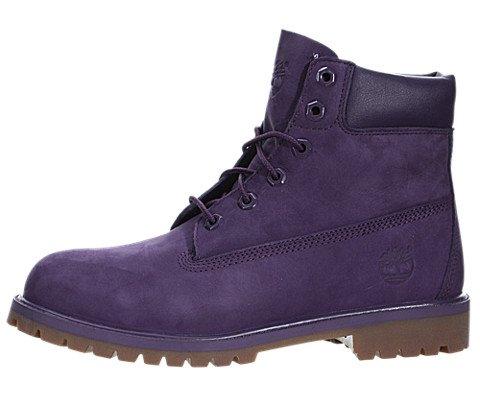 Timberland 6 Inch Premium Waterproof Big Kid's Boots Purple tb0a14t3 (6 M US) by Timberland