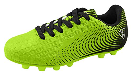 Vizari Unisex Stealth FG Green/Black Size 2 Soccer Shoe, Wide US Little Kid