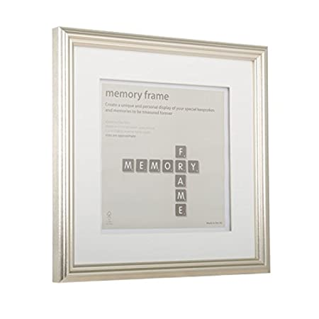 40cm x 40cm Metallic Pewter Silver Memory Box Frame: Amazon.co.uk ...