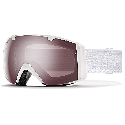 Smith Optics Womens IO Womens Goggles, White Eclipse/Ignitor Mirror Blue Sensor Mirror - OS by Smith