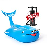 Narwhal Pool Floats for Adults Kids Inflatable Large Swimming Lounge Ride on Raft for Summer Beach Bachelorette Party