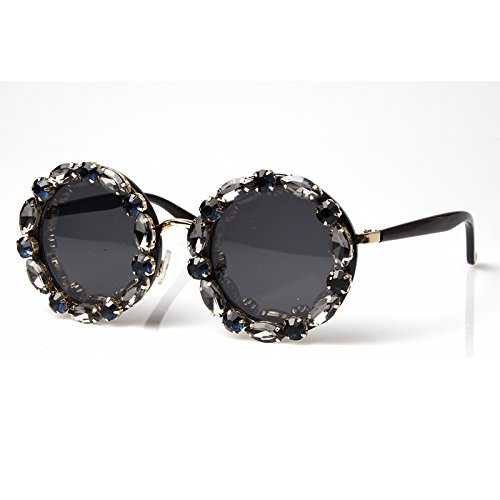 De Uv400 Gafas Hombre De Y Strass Sol Mujer Vintage Con TIANLIANG04 Tonalidades Redondo Sol Gafas Mujer wvRCqZ