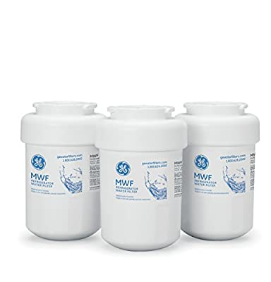 GE SmartWater MWF Refrigerator Water Filter, 3-Pack