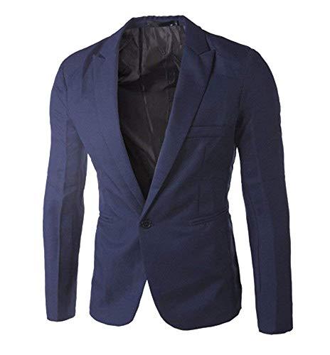 One Bouton Button Fit 1 Slim Casual Essentiel Marine Matching Blazer Élégant Manteau Hommes Costume Vestes q7EUwt