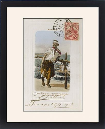 Framed Print of Uruguay - Palenque Gaucho by J M Blanes ()